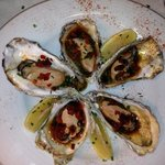 grilled oysters with chorizo