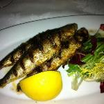 Grilled Sardine Appetizer. The star of the meal.