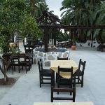 Außenanlage des Restaurants