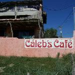 Sign for Caleb's Cafe