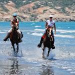 Cabalgando por nuestra hermosa playa caribeña