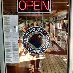 Open .. great espresso, sandwiches, ice cream and special treats.