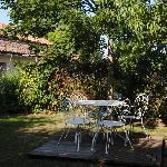 la terrasse côté chambre Gartempe