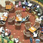 atrium dining area