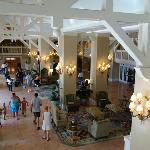 Overlooking the (small) lobby area