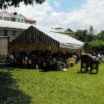 Hotel grounds suitable for large meetings/seminars.