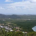View over historic Cooktown