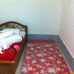 this is the extra bed! no frame just a mattress!!