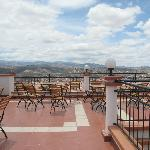 Magnifique terrasse avec vue sur la ville de Sucre