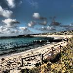 Arty shot of nearby beach