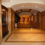 Hallway heading to elevators from the lobby