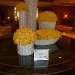 Beautiful flowers greet you in the lobby