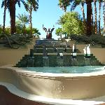 Fountain by the pool area