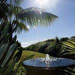 Glistening water feature