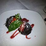 Cheesecake-stuffed, chocolate-dipped strawberries