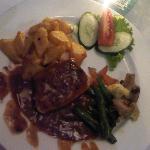 romantic dinner - chicken steak
