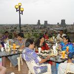 Roof-Top Veg. Restaurant (with Temple view)
