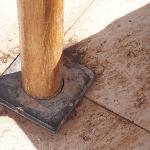 Pied de parasol/ sol avec terre