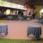 Disposizione tavoli della sala esterna