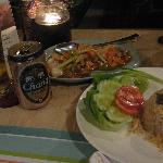dinner time at the hotel restaurant.