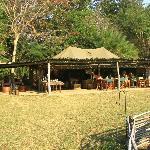 Dining and Lounge Area - Busanga Bush Camp