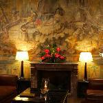 Lobby with fresco