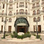 Main Entrance and face of Hotel Epoque, Bucharest, Romania