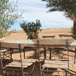 De la terasse, vue sur les dunes