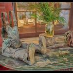 Porch art at Glen-Ella Springs Inn
