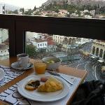 Café da manhã com vista para a Acrópoles