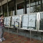 Todays front pages from all 50 states in front of Newseum