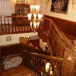 Beautiful staircase to rooms