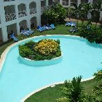 the pool behind our room