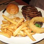 Steak, Fries, Onion ring