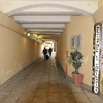 Street side corridor to the internal entrance (very quiet)
