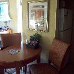 Breakfast area of King Suite