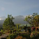 From terrace towards Rinjani