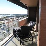 The balcony at our suite