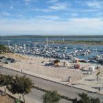 View over marina from balcony