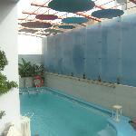 klein zwembad om even te verfrissen