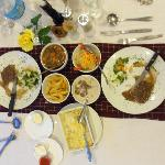 The Game Dishes/Gazelle, buffalo steak and warthog in gravy