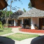 We stayed in two different locations. Once in a Tukul and once in the main building.