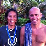 YOUR HOST ISAO WITH CHAMPION KELLY SLATER