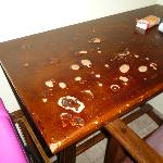 The desk had seen better days