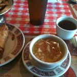 Yummy appetizer and soup!
