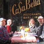 Enjoying the weather and the food at CaSa Bella