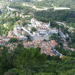 Vista da cidade de Sintra, no topo do Castelo.