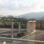 Temple of zeus from the roof top