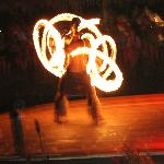 Te Vare Nui Village fire dancer