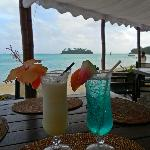 Cocktails at Sandals on Muri Beach